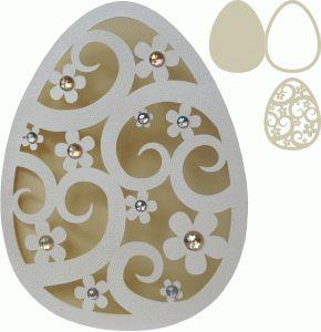 Silhouette Design Store - View Design #57494: easter egg shape card