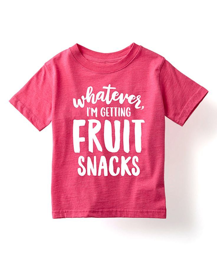 Love this Heather Hot Pink 'I'm Getting Fruit Snacks' Tee - Toddler & Girls by KidTeeZ on #zulily! #zulilyfinds