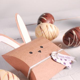 this is clever how they made the package into a rabbit for Easter.