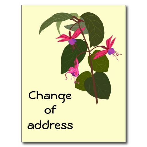 Fuchsia - Change of address card template Card templates - address change template