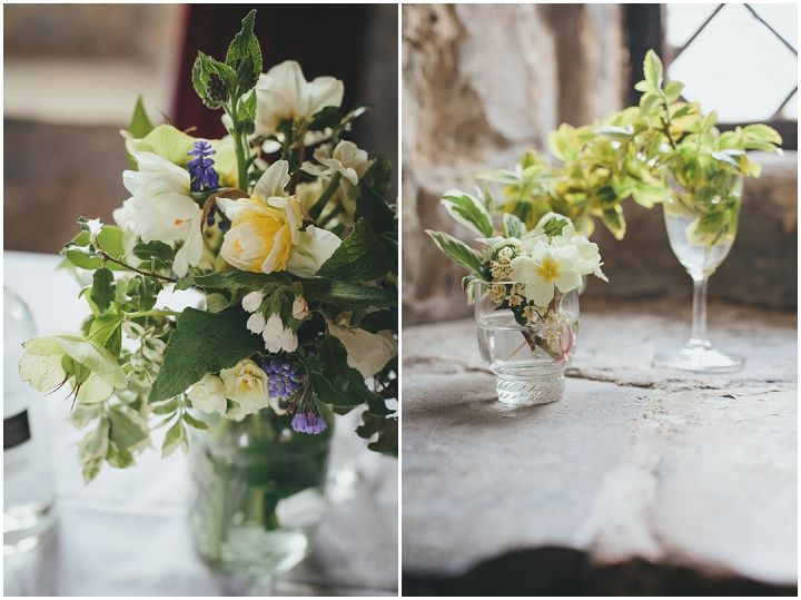 Small Bud Vases With Simple Spring Flowers