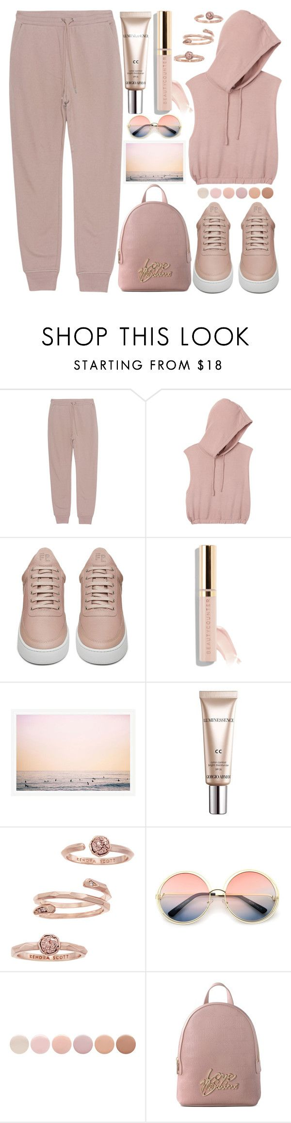 """Fresh Air"" by grozdana-v ❤ liked on Polyvore featuring T By Alexander Wang, RVCA, Filling Pieces, Beautycounter, CC, Kendra Scott, ZeroUV, Deborah Lippmann and Love Moschino"