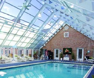 Retractable roof over pool!