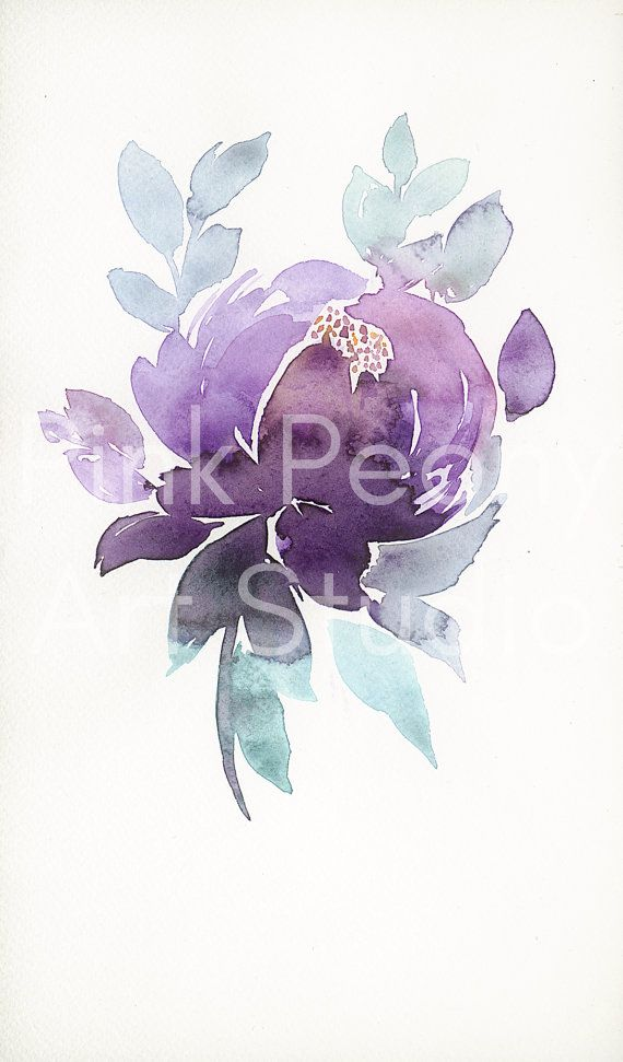 WATERCOLOR FLOWERS Purple Peony - Art print of my watercolor painting / Purple watercolor flowers / Floral art print / Floral poster  Art PRINT  SIZE This print is availabla in various sizes. Please choose size at the side bar. Good to know: size including 1 cm/0,4 inch white border small size: 31,5x19,5cm /12,4x7,6 inch normal size: 15,75x9,75cm /6,2x3,8 inch  Signed by artist.  If you have any questions please don't hesitate to ask. It's always my pleasure to a...