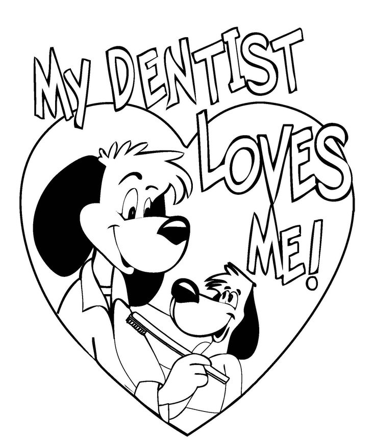 some really cute dental coloring pages