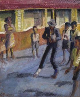 Street Muscian - Gerard Sekoto