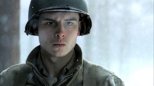Band of Brothers: Bastogne - Shane Taylor If you haven't seen this HBO Series I highly recommend you do. It's on DVD. Excellent writing and acting. I watch it on Memorial Day or July4 in honor of our military men and women. AFS