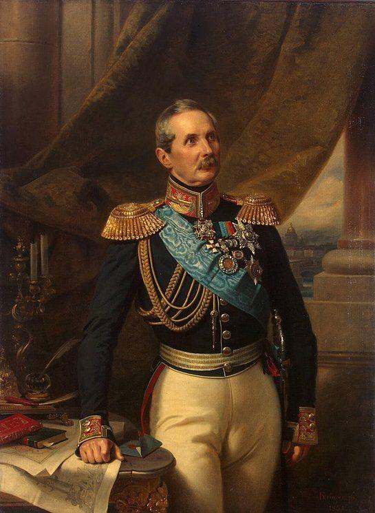 Portrait of Pyotr Kleinmichel, 1851 by Franz Krüger (German 1797-1857)