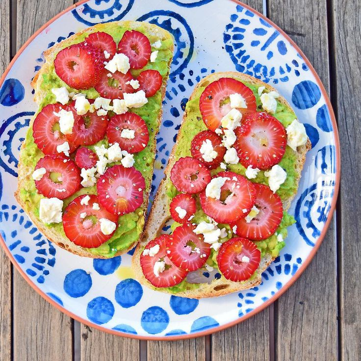 #iqs8wp strawberry and avocado toastie! I love this combination and often have it as a snack on rice crackers. The fetta and black pepper bring it to life.