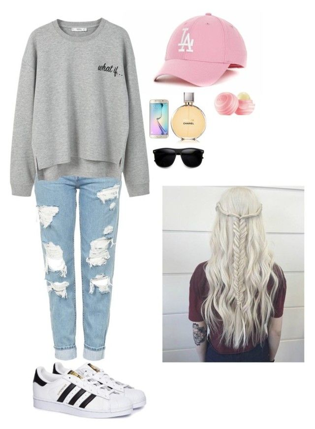 """mom's outfit"" by alexia-nistor on Polyvore featuring Topshop, adidas, '47 Brand, MANGO, Samsung, Chanel and ZeroUV"