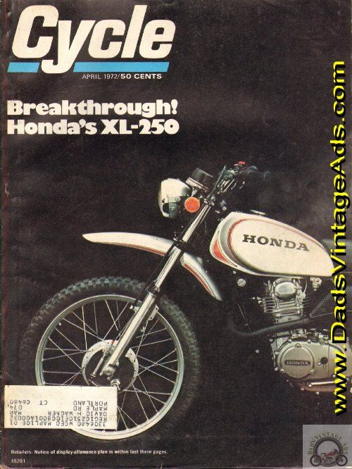 1972 Honda XL-250 Motosport – Honda's first headlong plunge into the off-road boonies