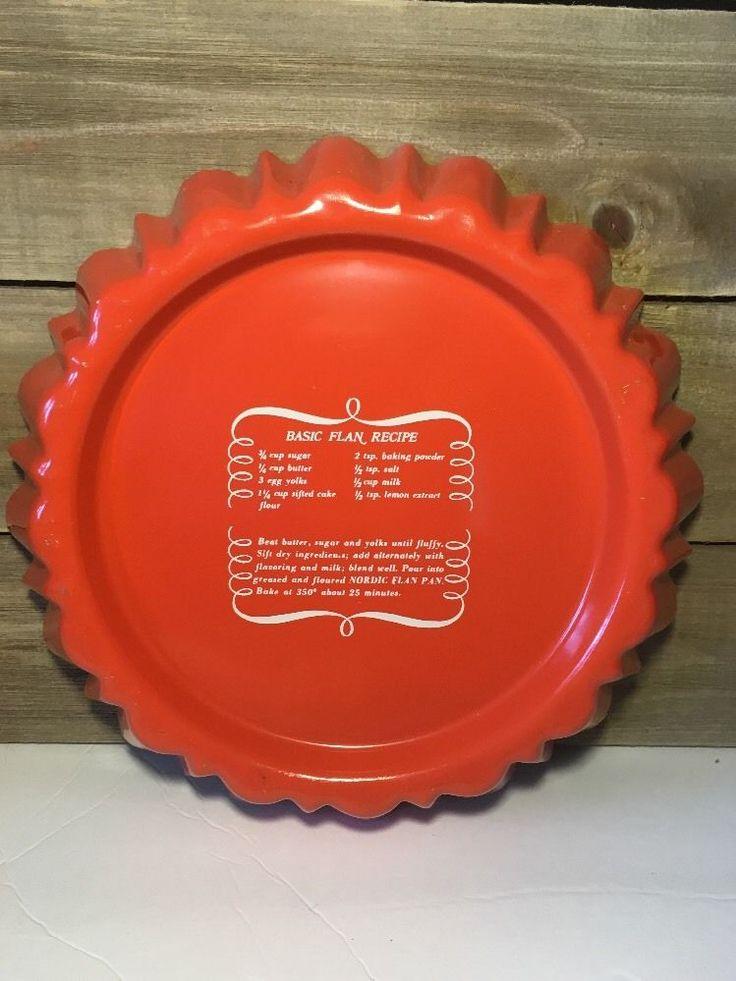 Vintage Nordic Ware Bundt Flan Pan Fruit Shortcake Teflon II Retro Orange   eBay