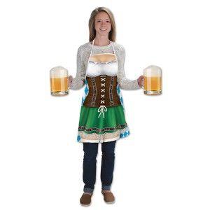 Oktoberfest Costume Accessories Fraulein Fabric Apron Each