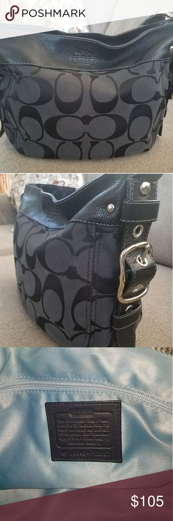 Black coach purse Barely used. Cleaning the inside so it looks new. Authentic coach purse. Coach Bags Shoulder Bags