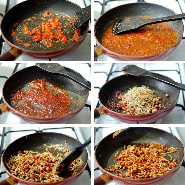 Sambal Teri Kacang Spicy Anchovies Step by Step