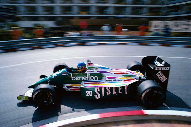 Gerhard Berger Monaco 1986 Benetton B186 BMW