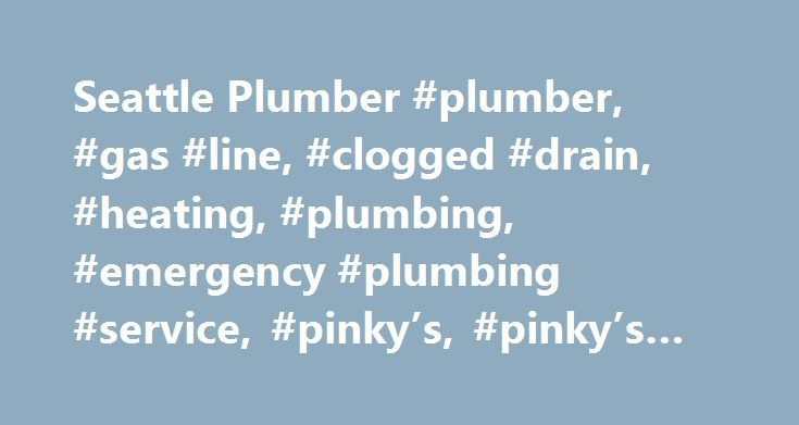 Seattle Plumber #plumber, #gas #line, #clogged #drain, #heating, #plumbing, #emergency #plumbing #service, #pinky's, #pinky's #plumbing http://malawi.nef2.com/seattle-plumber-plumber-gas-line-clogged-drain-heating-plumbing-emergency-plumbing-service-pinkys-pinkys-plumbing/  # WATER HEATERS We offer: 98% Eff Tankless Electric or Gas Solar Hot Water Commercial Residential Emergency Services High Output Boilers All Brands Drain Cleaning We offer: Snake Drain Cleaning High Pressure Jets Backflow…