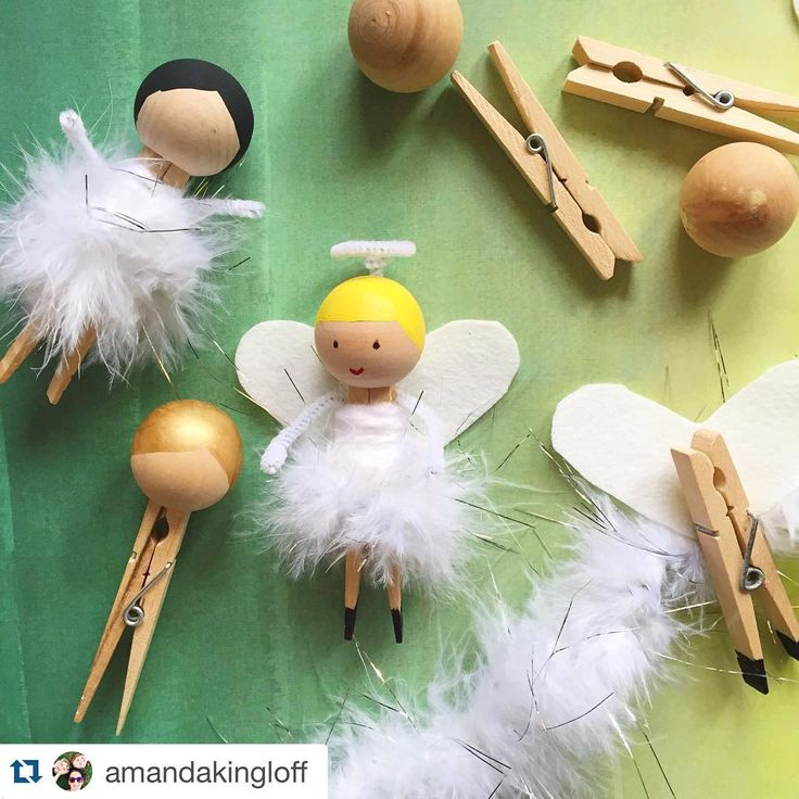 Love these adorable angels! #Repost @amandakingloff with @repostapp. ・・・ It's an angel factory over here at #ProjectKid headquarters! Tune into @gooddayny tomorrow morning to see how to make these sweet #DIY #ornaments!