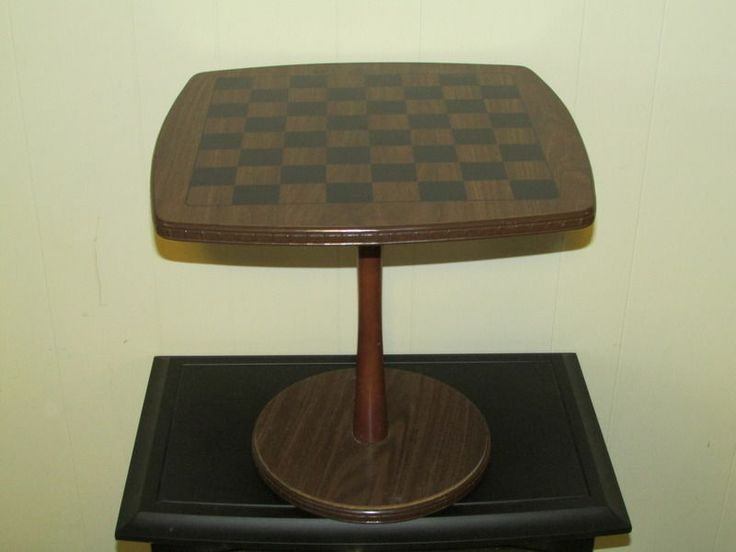 vintage 1960's mid century danish modern chess/checkers game table
