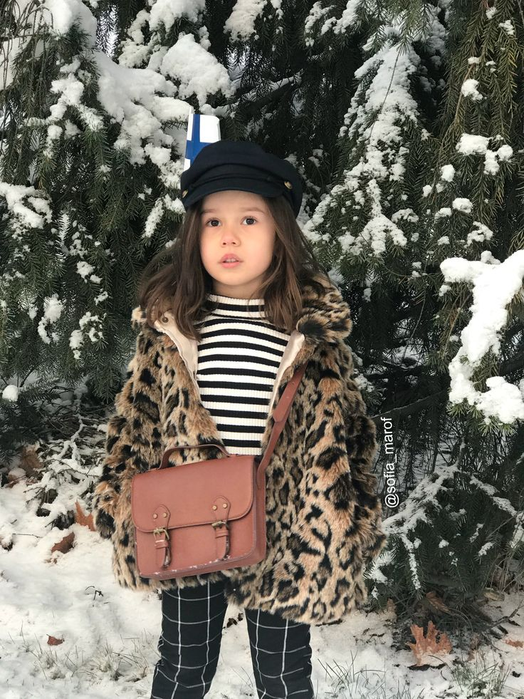 Kids Fashion style Instagram outfit Leopard coat