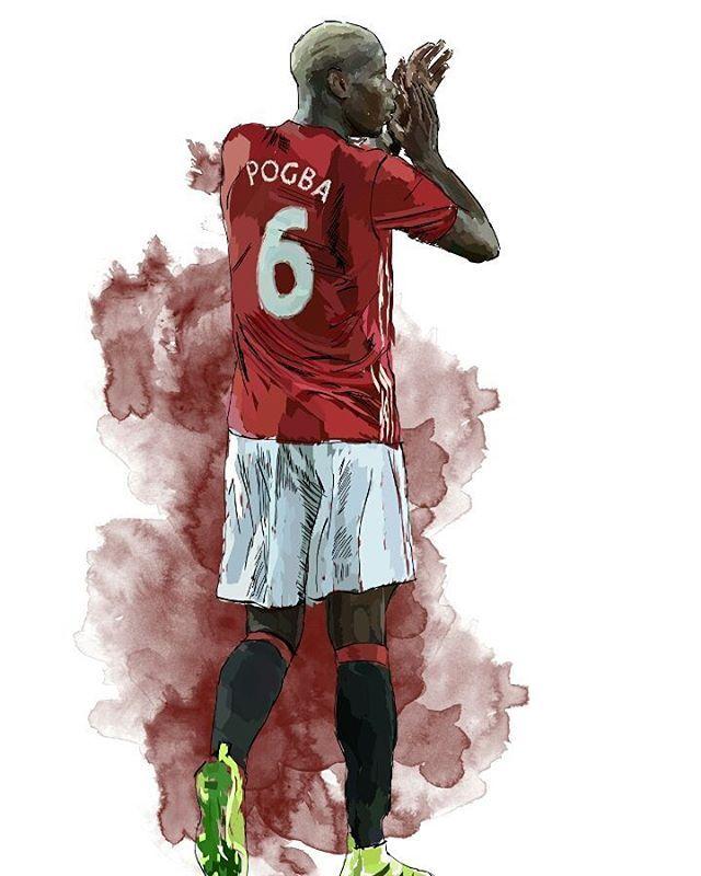 Pogba digital art #pogba #mufc https://www.redbubble.com/people/armaan/works/23662577-pogba-art?asc=u