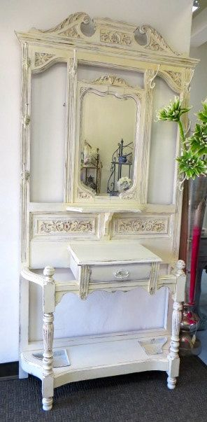 Hey, I found this really awesome Etsy listing at https://www.etsy.com/listing/183841055/shabby-chic-antique-hall-tree