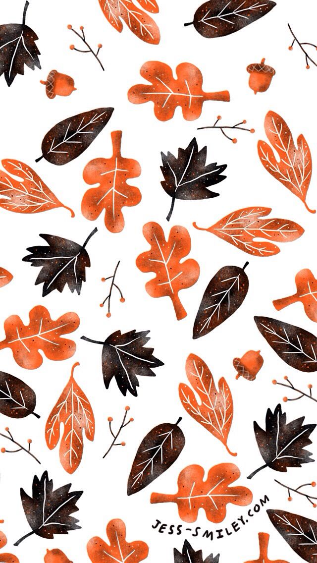 Autumn Fall leaves iphone background lock screen phone wallpaper