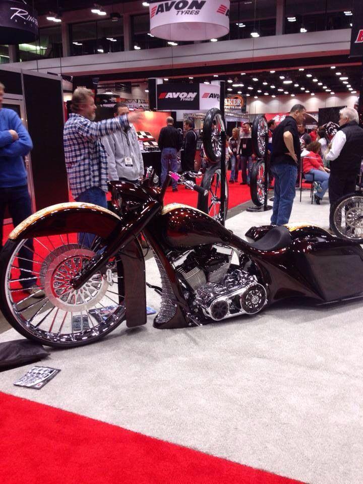 "Front Wheel Drive Cars >> Matt Hotch Bagger w/ 32"" Front Wheel | Custom Harley Baggers | Pinterest | Wheels, Kustom and ..."