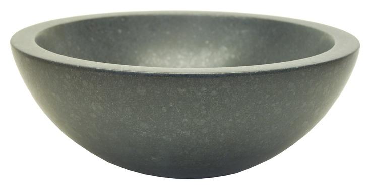 Small Vessel Sink Bowl - Honed Black Basalt $399