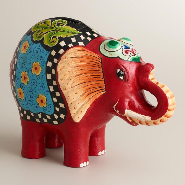 Red Terracotta Elephant   World Market