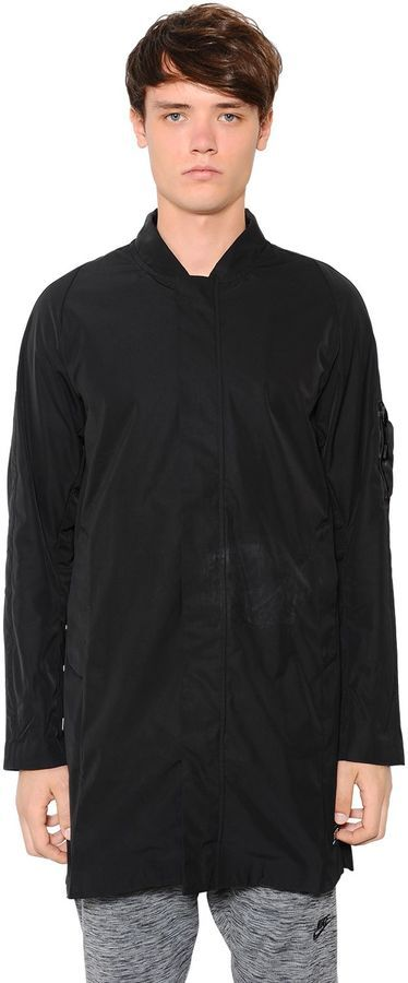 Nike F.c. Waterproof Nylon Long Bomber Jacket