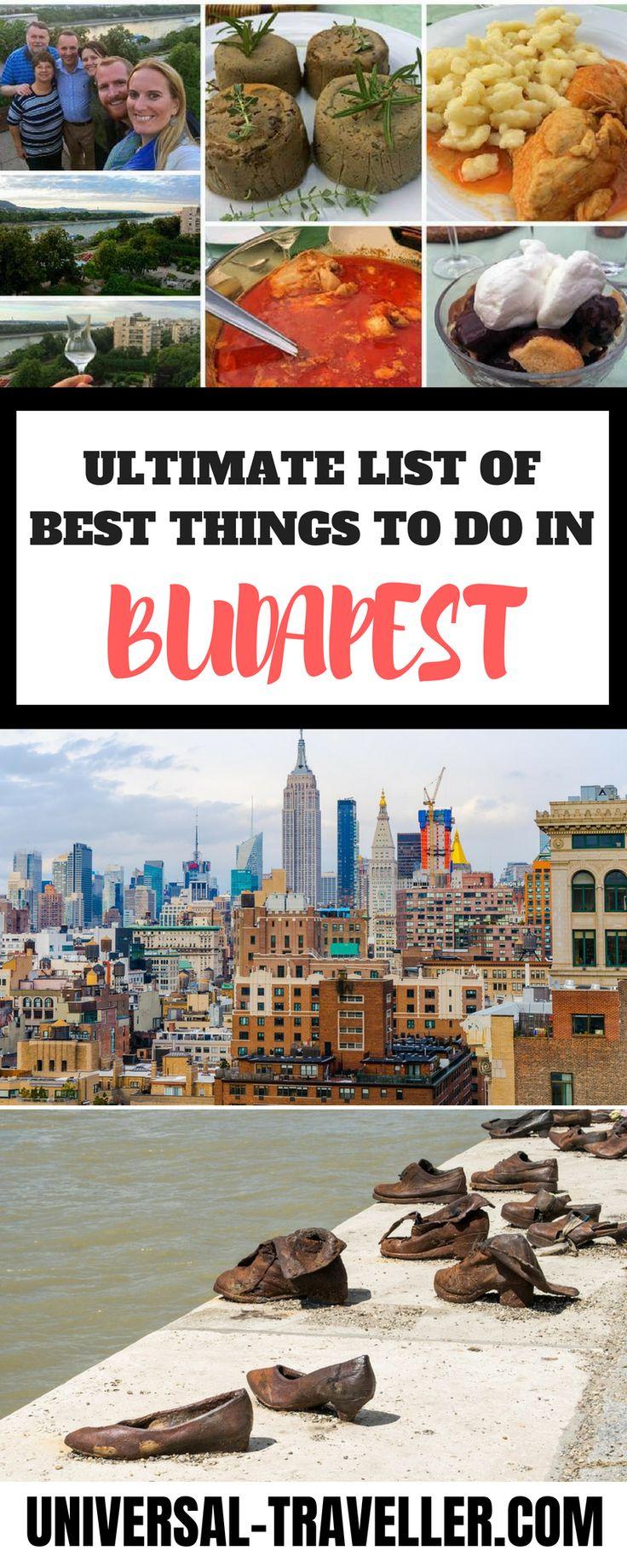 Finden Sie hier die besten Dinge, die Sie in Budapest unternehmen können, und geben Sie …   – Best of Universal Traveller