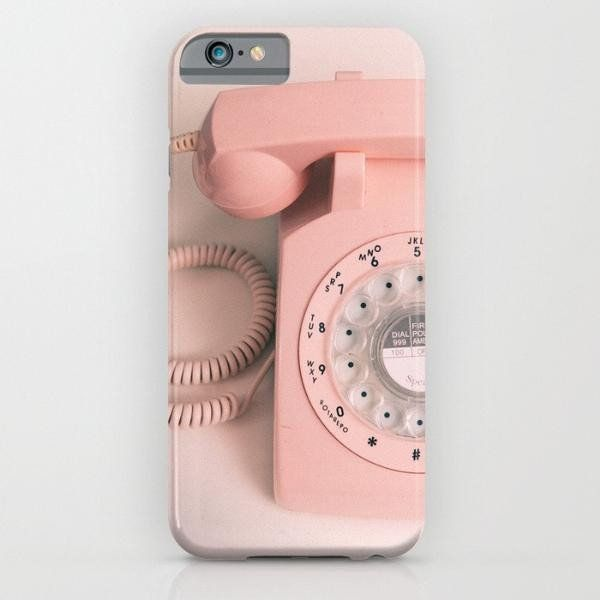 Pink Vintage Telephone iphone case, smartphone