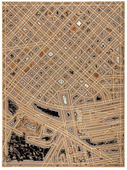 Pierre Cordier, Topogramme de Buenos Aires #2 (1992)