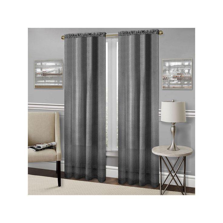 Achim Richmond Light Filtering Curtain, Black