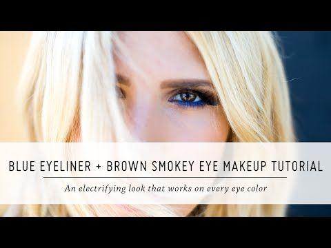 Mr. Kate   Blue Eyeliner and Brown Smokey Eye Tutorial