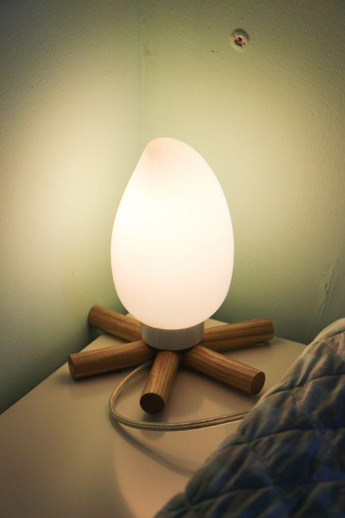 Woodland Mountain theme Baby Boy Nursery Land of Nod Campfire Lamp