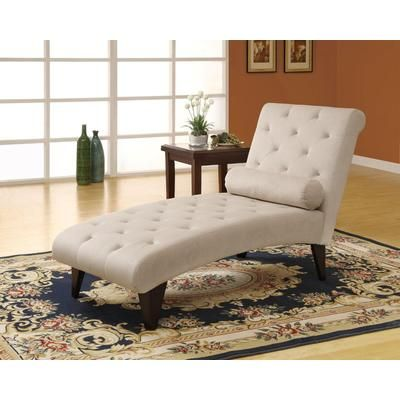 Monarch Specialties - Taupe Velvet Fabric Chaise Lounger - I 8032 - Home Depot Canada