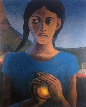 Girl With Orange - Gerard Sekoto