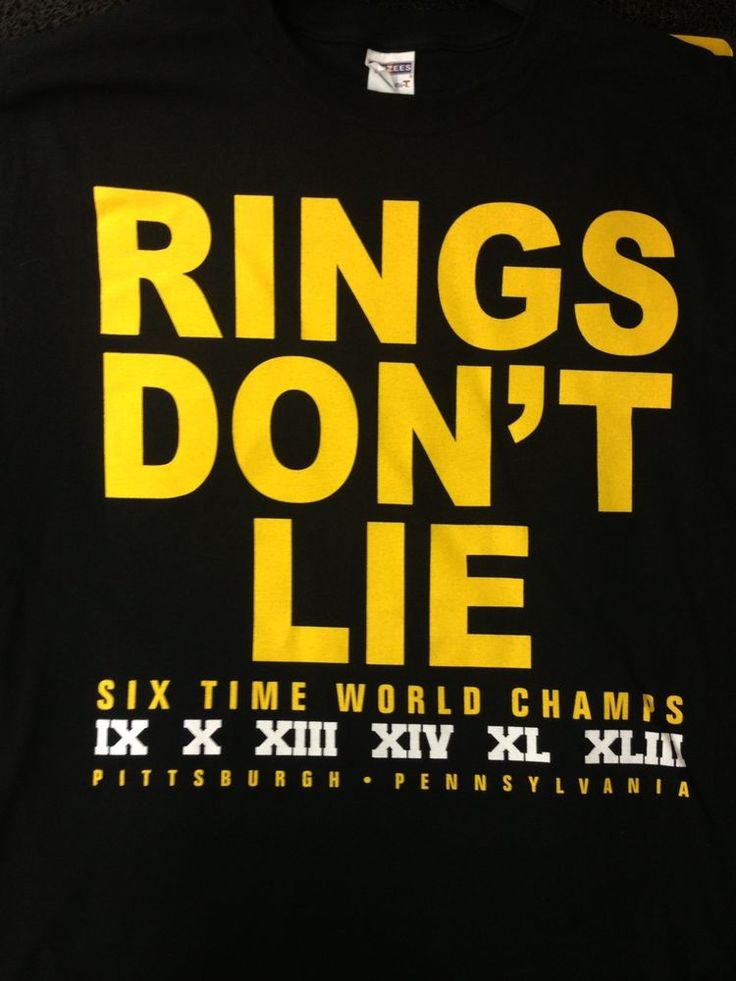 Show everyone whose the best Football team with the Rings Don't Lie T-Shirt!  Here We Go!