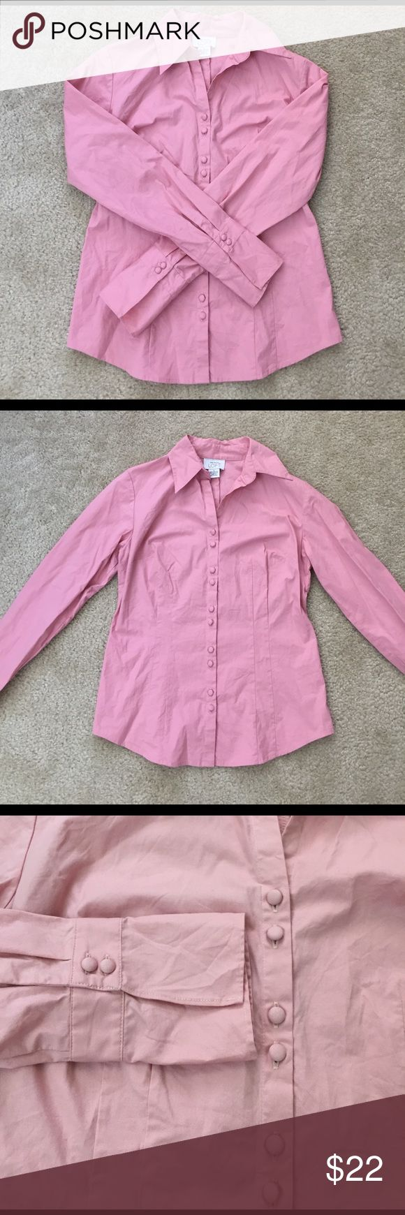 LOFT Baby Pink Woman Dress-shirt Blouse Wore few times, in very good condition. The color is baby pink-in the pictures looks brighter than in real life. Very elegant dress-shirt, good for office and for going out. I'm open for reasonable offers. LOFT Tops Blouses