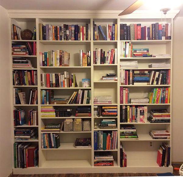 diy built in ikea billy bookshelf 11