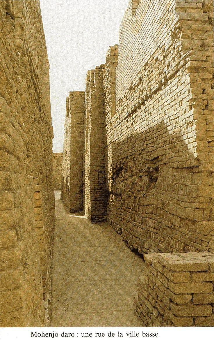 rue de la ville basse de Mohenjo Daro.