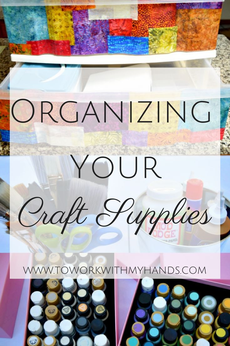 DIY Organization ideas for your craft supplies