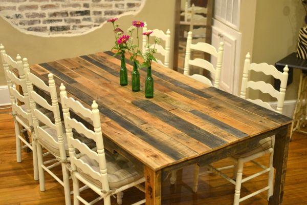 Esstisch selber bauen Holz Paletten