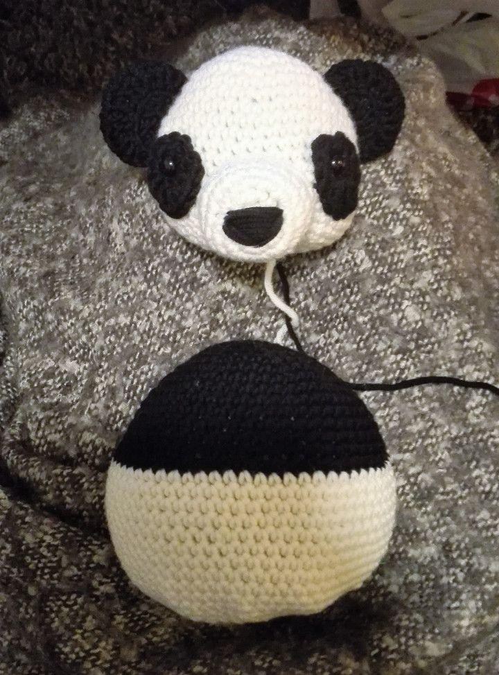 free crochet pattern panda teddybear toy baby toy