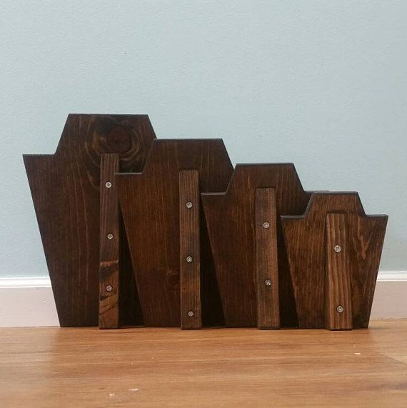 Solid Wood Necklace Display Jewelry Stand Walnut Stain