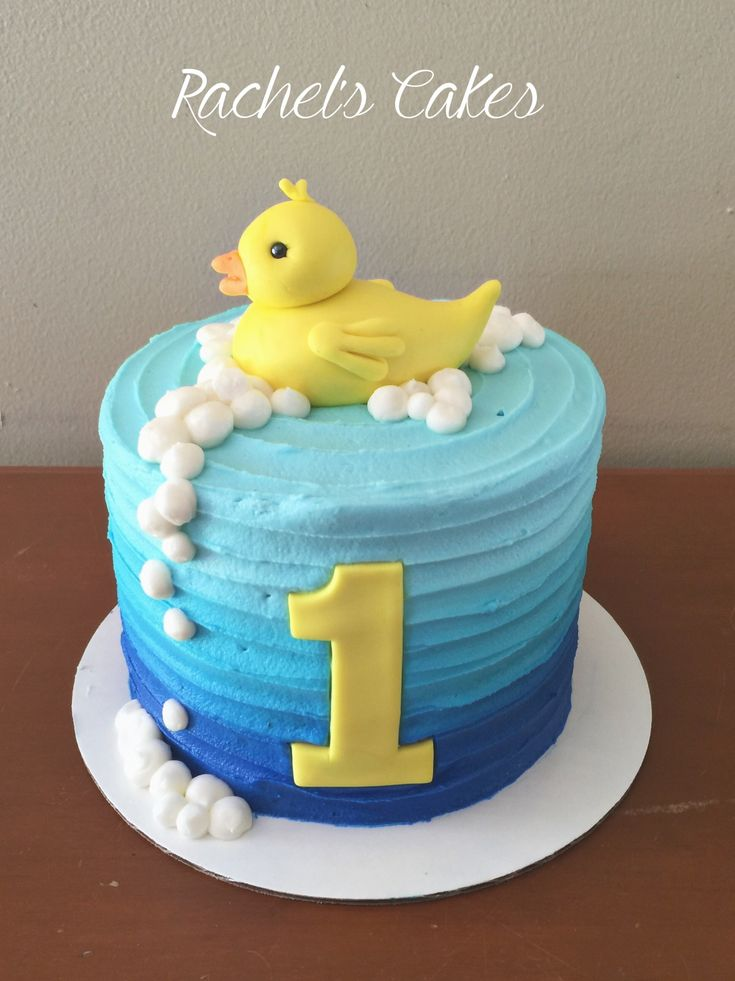 rubber duck smash cake