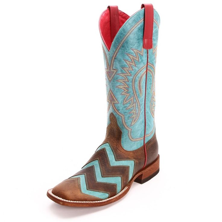 Macie Bean Women's Wave On Wave Square Toe Cowgirl Boots Brown