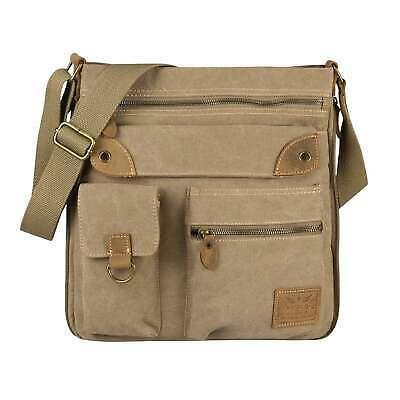 Photo of LADIES MEN CANVAS BAG CrossOver Leather bag Shoulder bag Shoulder bag: …